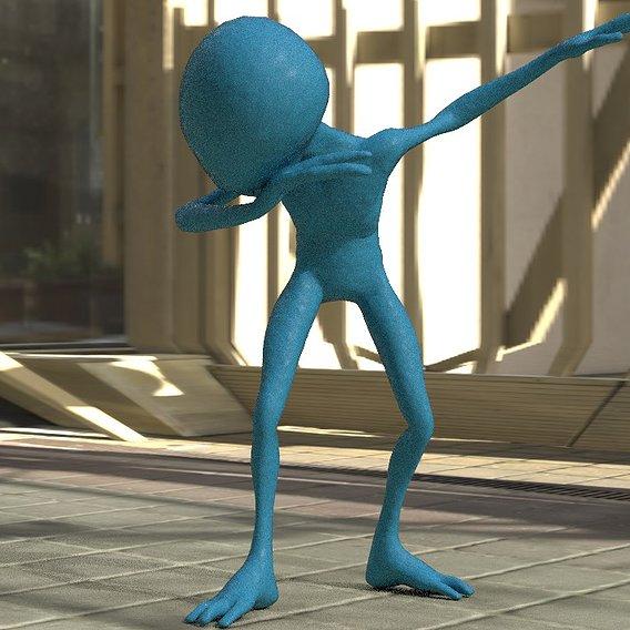 Blue aliean dancing like MJ