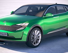 concept 3D model Generic Electric SUV Crossover 2018