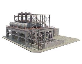 3D asset Industrial Silo 05
