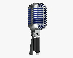 Cardioid microphone 01 3D