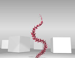3D model Wild Wine Vine - Parthenocissus - Autumn - 2