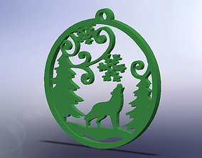 Wolf Ornament 3D printable model