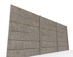 3D model concrete wall