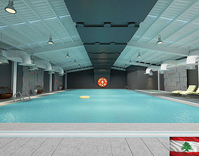 swimming pool 3D model hotel