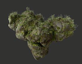 HD Floating Mossy Rock 08 191205 3D