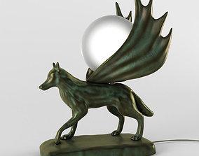 decorative lamp wolf 3D