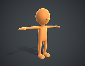 Low Poly Game Ready Stickman Rigged 3D asset