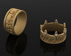 3D printable model Elephant rings 117