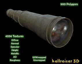 Spyglass Pocket Telescope - Textured 3D model