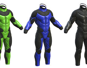 sci-fi male suit 3D asset realtime
