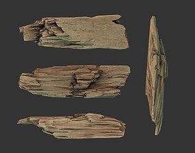 3D asset Wooden Plank Debris