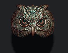 owl ring zbrush 3D printable model