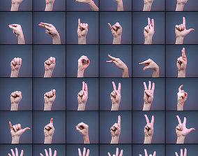 3D model 36 Gestures A-Z and 0-9 Sign Language Finger