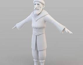 3D Cartoon Ottoman Old Man