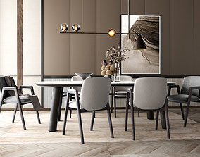 3D Interior Scene poliform dining table