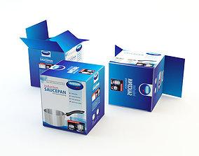 3D asset Cardboard Box 6