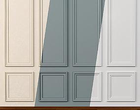 Wall molding 14 Boiserie classic panels 3D