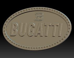 Bugatti logo car logotype 3D print model