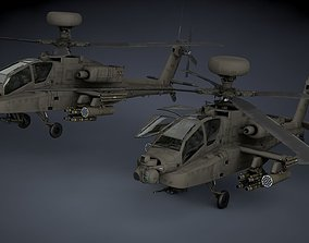 Boeing AH-64D Apache Longbow Helicopter 3D model