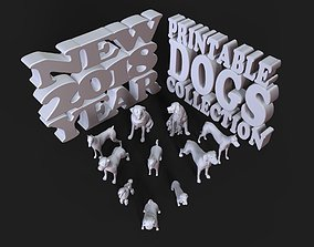 Printable DOGS Collection New 2018 Year american
