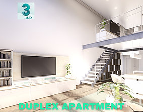 Modern Duplex Apartment Scene - 3DS MAX home