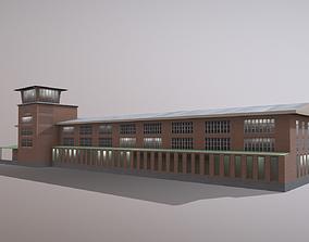 Airport Control Tower UDYZ KDP 3D model