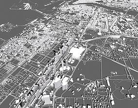 3D model Cityscape Deira and Dubai United Arab Emirates