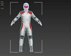 racer driver 3D model