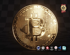 Bitcoin 3D model low-poly