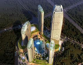 tile Skyscraper Business Center 3D model