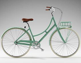 3D model outdoor Vintage Bicycle