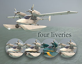 Accord-201 Floatsplane with four liveries 3D