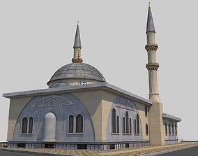 3D model exterior architecture Mosque