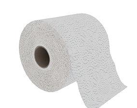 3D model low-poly Toilet paper