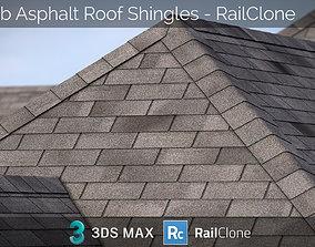 RailClone Preset of 3-tab Asphalt Roof Shingles for 2