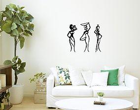 African Women wall art 1 3D print model