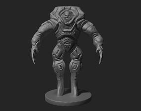3d print model undead skull monster in spacesuit