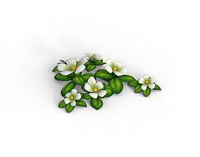 Cartoon Flowers 3D model