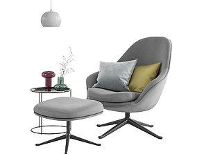 BoConcept Adelaide Chair Set 3D