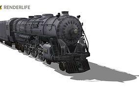 Santa Fe Type Locomotive 3D model