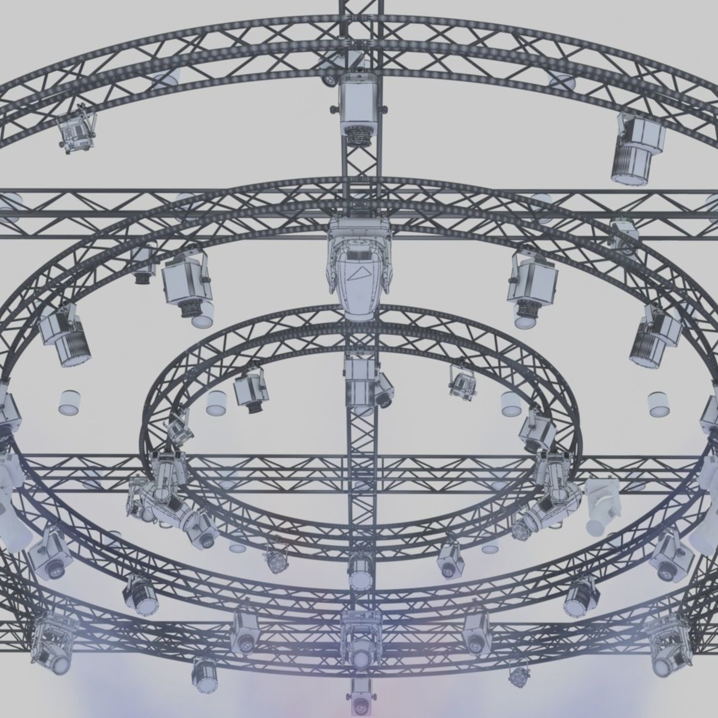 TV Studio Stage Truss and Lights