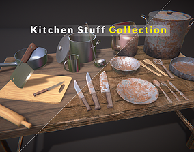 3D model Kitchen Stuff Collection PBR