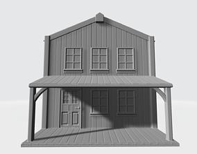 Wood house wild west 3D print model