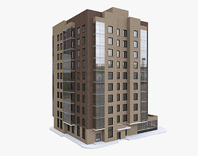 3D 10-storey Residential Apartment Building