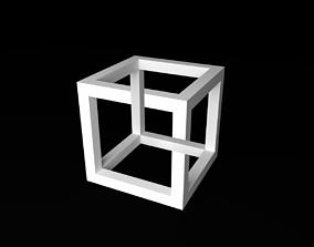 3D print model Esher impossiblecube