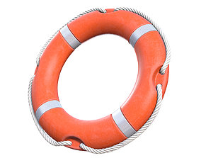 3D model PBR Lifebuoy
