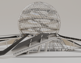 Futuristic Expo Center 3D model
