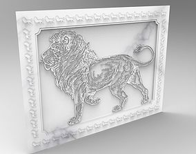 lion frame relief 3D model