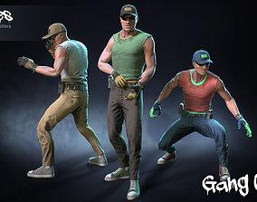 3D model Male Gang 02
