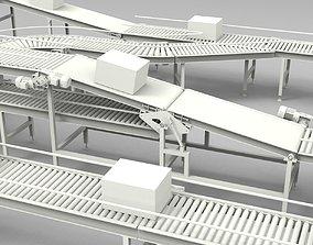 Conveyor Belt factory 3D model